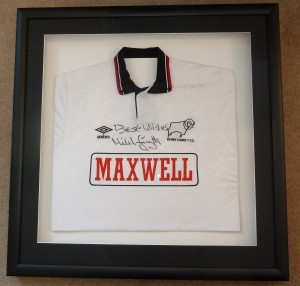 Derby County Framed football shirt